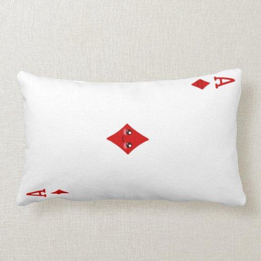 As lindo de la almohada del naipe de los diamantes