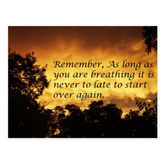 As long as you are breathing you can start over postcard