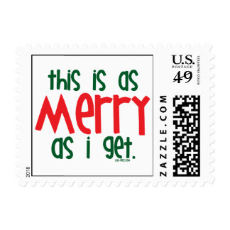 As Merry As I Get Postage Stamps