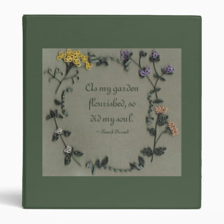 "As My Garden Flourished (English) 1"" Binder"