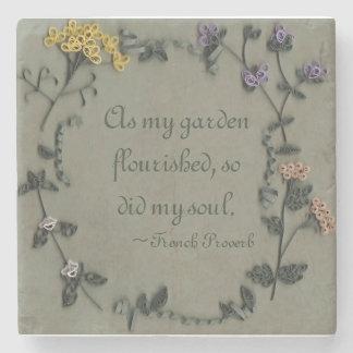 As My Garden Flourished Stone Coaster