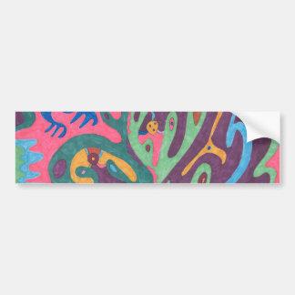 """As One"" Abstract Art Bumper Sticker"