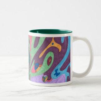 As One, Abstract Art Mug