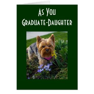 AS OUR DAUGHTER GRADUATES CARD