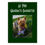 AS OUR DAUGHTER GRADUATES GREETING CARD