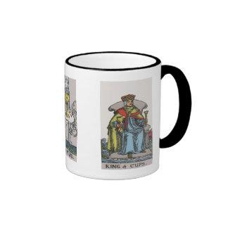 As, rey y reina de la taza de café de Tarot de las