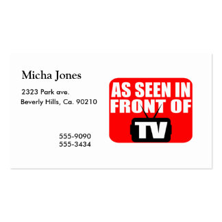 As Seen In Front Of TV Business Card