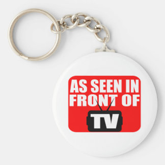 As Seen In Front Of TV Keychain