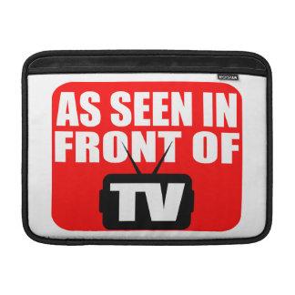 As Seen In Front Of TV MacBook Sleeve