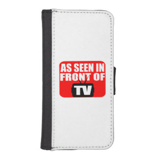 As Seen In Front Of TV iPhone 5 Wallet Cases