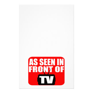 As Seen In Front Of TV Stationery