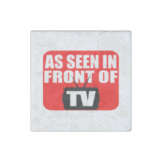 As Seen In Front Of TV Stone Magnet