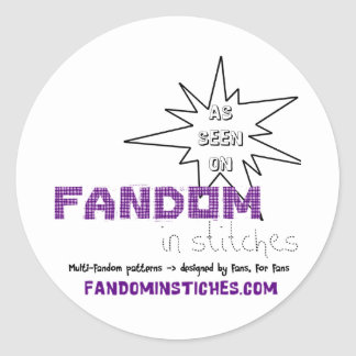As Seen On Fandom In Stitches Classic Round Sticker
