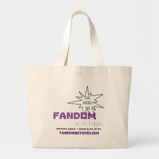 As Seen On Fandom In Stitches Large Tote Bag