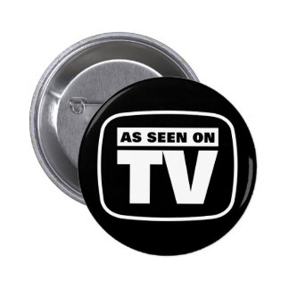 As Seen on TV - Black and White 2 Inch Round Button