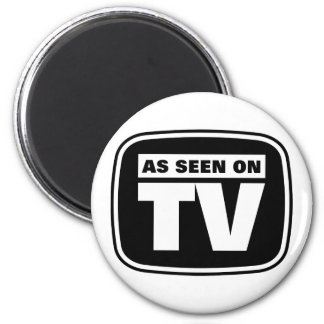As Seen on TV - Black and White 2 Inch Round Magnet