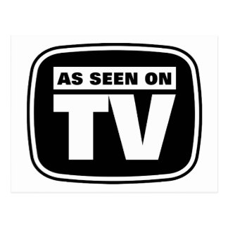 As Seen on TV - Black and White Postcard