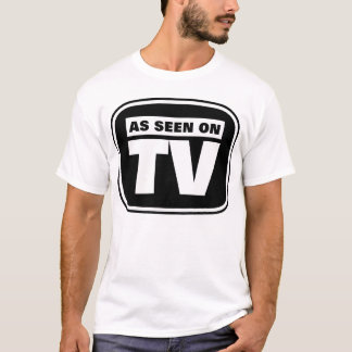 As Seen on TV - Black and White T-Shirt
