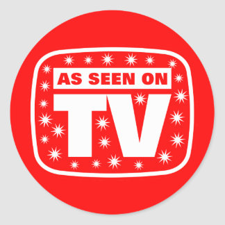 As Seen on TV - CH 2 With Snow Stars Classic Round Sticker