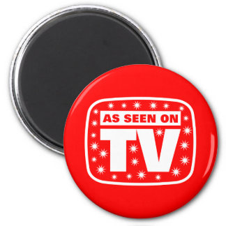 As Seen on TV - CH 2 With Snow Stars 2 Inch Round Magnet