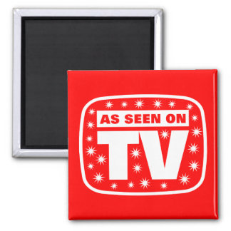 As Seen on TV - CH 2 With Snow Stars 2 Inch Square Magnet