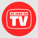 As Seen on TV Classic Round Sticker