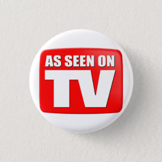 As Seen On TV Pinback Button