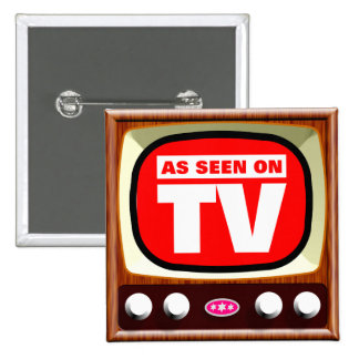As Seen on TV - Retro TV 2 Inch Square Button