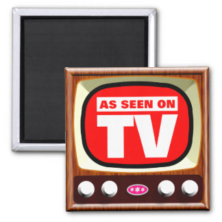 As Seen on TV - Retro TV 2 Inch Square Magnet