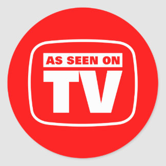 As Seen on TV Round Stickers