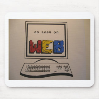 As Seen on Web Mouse Pad