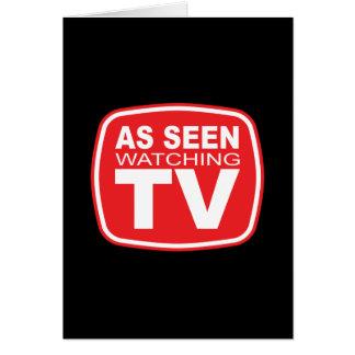 As Seen Watching TV Card