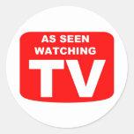 As Seen Watching TV Sticker