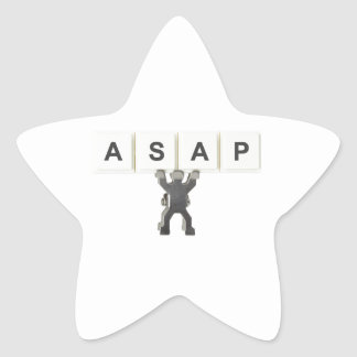 As soon as possible star sticker