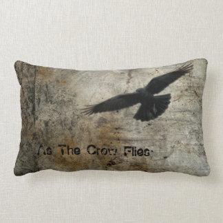 As The Crow Flies Lumbar Pillow
