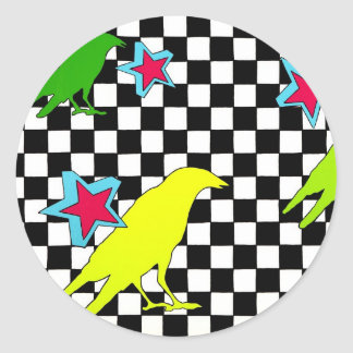 """As the crow flies"" Classic Round Sticker"