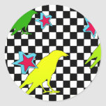 """""""As the crow flies"""" Stickers"""