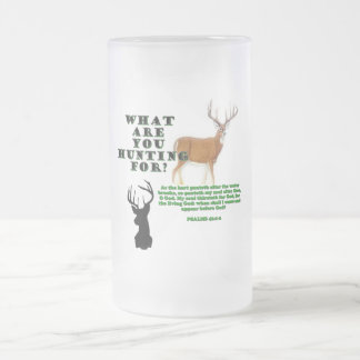 As the Deer Frosted Glass Beer Mug