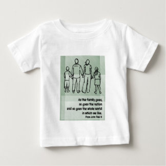 As the family goes ... Pope John Paul II Baby T-Shirt