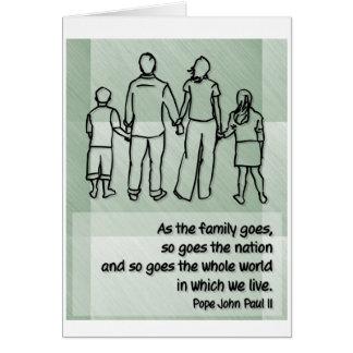 As the family goes ... Pope John Paul II Card