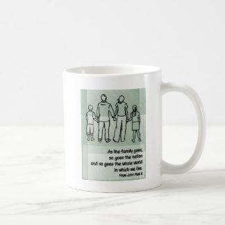 As the family goes ... Pope John Paul II Coffee Mug