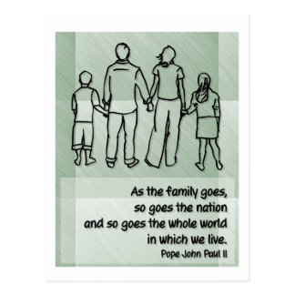 As the family goes ... Pope John Paul II Postcard