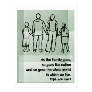 As the family goes ... Pope John Paul II Postcard