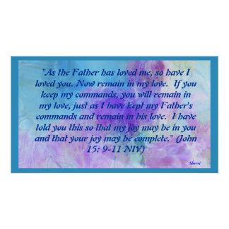AS THE FATHER HAS LOVED POSTER