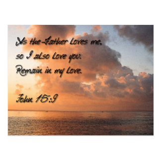 As the Father loves me,  so I also love you.,, Post Card