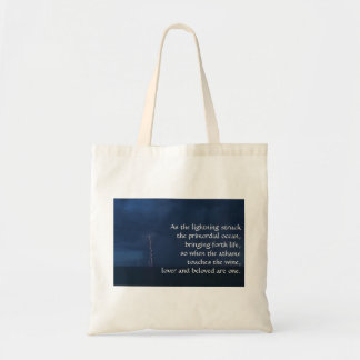 """As the lightning struck the primordial ocean..."" Tote Bag"