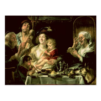 As the Old Sing, so the Young Pipe, 1638 Postcard