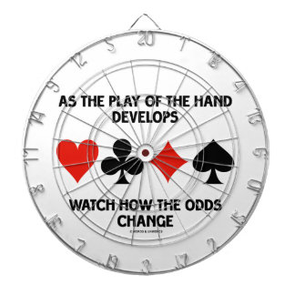 As The Play Of The Hand Develops Watch How Odds Dartboard