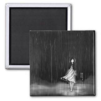 ... as the rain fell on me 2 inch square magnet