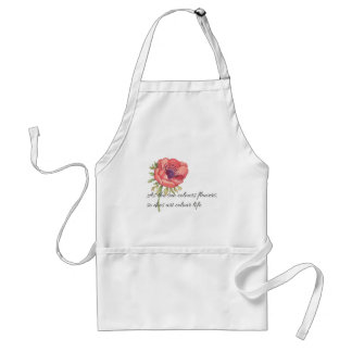 As the sun colours flowers adult apron